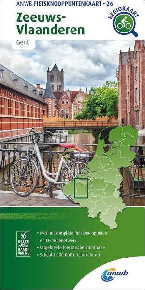 ANWB Fietskaart Zeeuws-Vlaanderen Fietsknooppuntenkaart 26