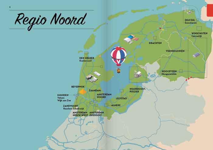 Treurtrips Reisgids Kaartje Nederland Noord